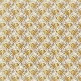 Antieke gele sjofele elegant nam het behang van het herhalingspatroon toe Stock Afbeelding