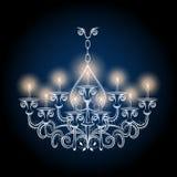 Antieke gotische uitstekende kroonluchter vector illustratie