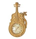 Antieke gouden klok Stock Afbeelding