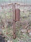 Oude graanplanter Royalty-vrije Stock Foto