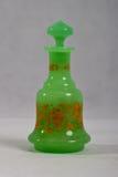 Antieke groene parfumfles 1840 Stock Fotografie
