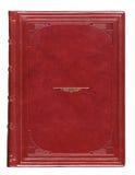 Antieke het boekdekking van het leer met gegraveerd Royalty-vrije Stock Foto's