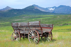 Antieke houten auto Stock Foto's
