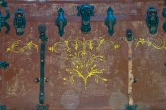Antieke houten boomstam stock fotografie