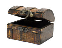 Antieke houten borst Royalty-vrije Stock Fotografie