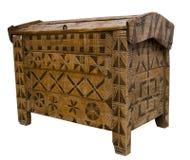 Antieke houten borst Stock Foto's