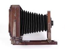 Antieke houten camera Stock Foto