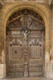 Antieke houten deur Stock Foto