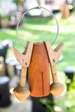 Antieke houten klok Stock Afbeelding