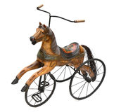 Antieke Houten Paardfiets Met drie wielen Royalty-vrije Stock Foto