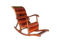 Antieke houten schommelstoel Stock Foto's