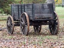 Antieke Houten Wagen Stock Fotografie
