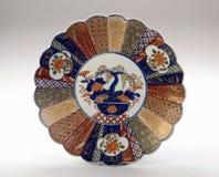 Antieke Japanse Imari Plate Royalty-vrije Stock Afbeeldingen