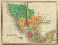 antieke kaart 1831 van Texas Stock Foto's