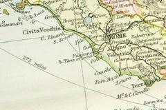Antieke Kaart Royalty-vrije Stock Afbeeldingen