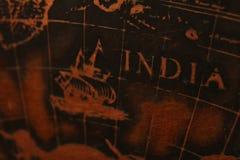 Antieke kaart Stock Foto's