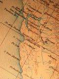 Antieke kaart die op Califo wordt gecentreerd Stock Foto