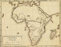 Antieke kaart van Afrika. Stock Foto
