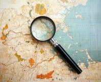 Antieke kaart van Boston stock foto