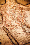 Antieke kaart van het Arabische Schiereiland Stock Foto's