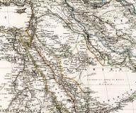 Antieke kaart van het Midden-Oosten Arabië Irak Royalty-vrije Stock Foto's