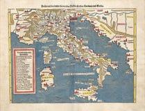 Antieke kaart van Italië Stock Afbeeldingen