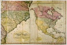 Antieke kaart van Verenigde Staten c. 1800 Royalty-vrije Stock Foto
