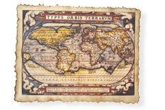 Antieke kaart van Wereld Stock Afbeeldingen