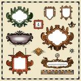 Antieke kaartelementen Royalty-vrije Stock Foto