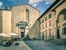 Antieke kerk in Arezzo, Italië Stock Afbeelding