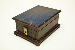 Antieke Kleine donkere bruine Doos Stock Afbeelding
