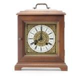 Antieke klok die op wit wordt geïsoleerd Royalty-vrije Stock Foto