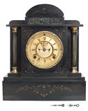Antieke Klok met Roman Cijfers Royalty-vrije Stock Foto's