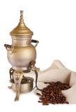Antieke koffiekan met geestlamp Royalty-vrije Stock Foto