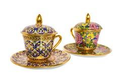 Antieke Koffiekop Royalty-vrije Stock Afbeelding
