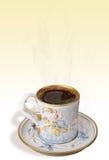 Antieke koffiekop en schotel Royalty-vrije Stock Afbeeldingen