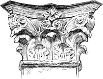 antieke kolom Royalty-vrije Stock Afbeelding