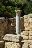 Antieke kolom in Agrippa-paleis, Israël royalty-vrije stock foto