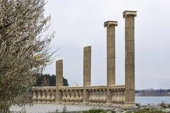Antieke kolommen royalty-vrije stock fotografie