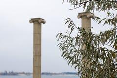 Antieke kolommen stock afbeeldingen
