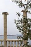 Antieke kolommen stock afbeelding