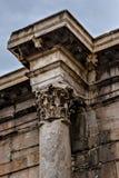 Antieke kolommen in Athene Stock Foto's