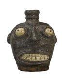 Antieke kruik met geïsoleerd gezicht. Stock Afbeelding