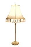 Antieke Lamp met Geborduurde Schaduw Royalty-vrije Stock Afbeeldingen