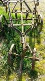 Antieke landbouwbedrijfploeg Stock Afbeeldingen