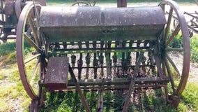 Antieke landbouwmachine Stock Foto