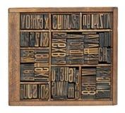 Antieke letters, getallen en ligatuur Royalty-vrije Stock Foto's