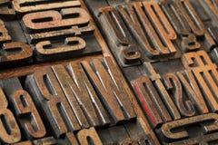 Antieke letterzetseltype samenvatting Stock Afbeelding