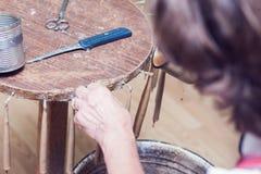 Antieke manier om kaarsen te maken Royalty-vrije Stock Foto's