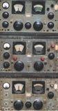 Antieke Marine Control Panel Instruments stock afbeeldingen